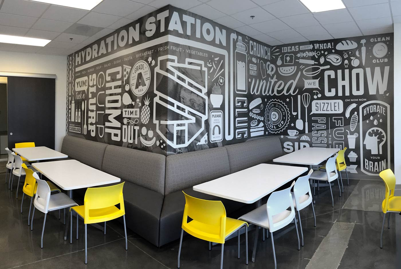Impressive Branding in Office lunch room - Minneapolis, Minnesota