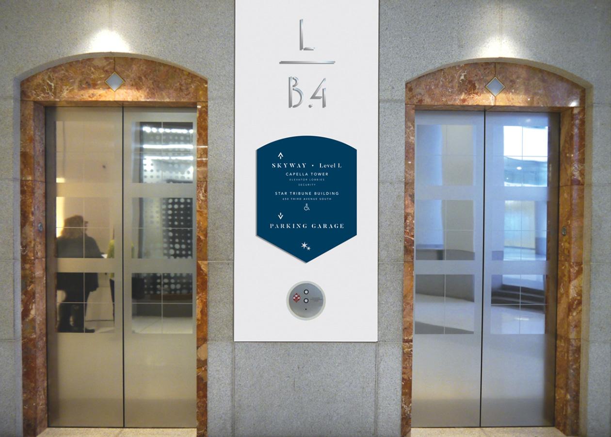 capella tower elevator signage