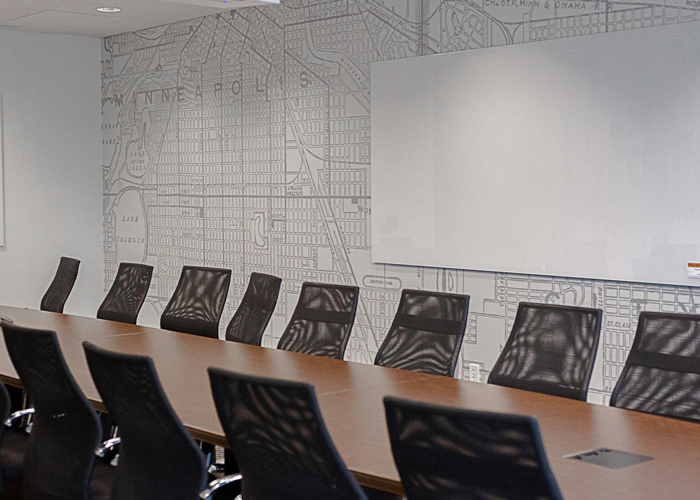 cresa board room wall