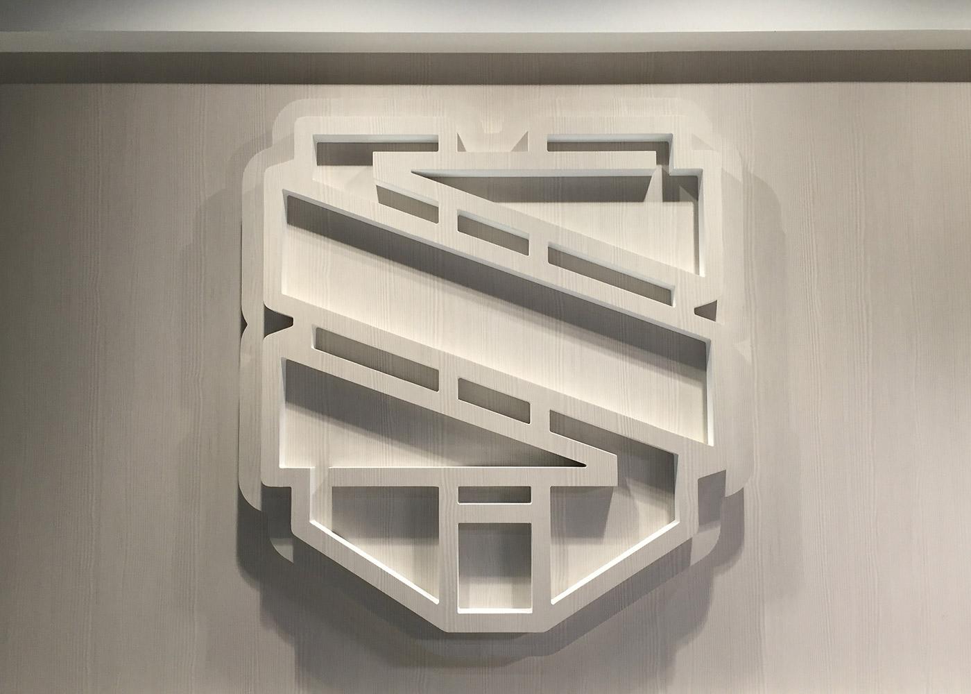 united sports brand dimensional wood logo