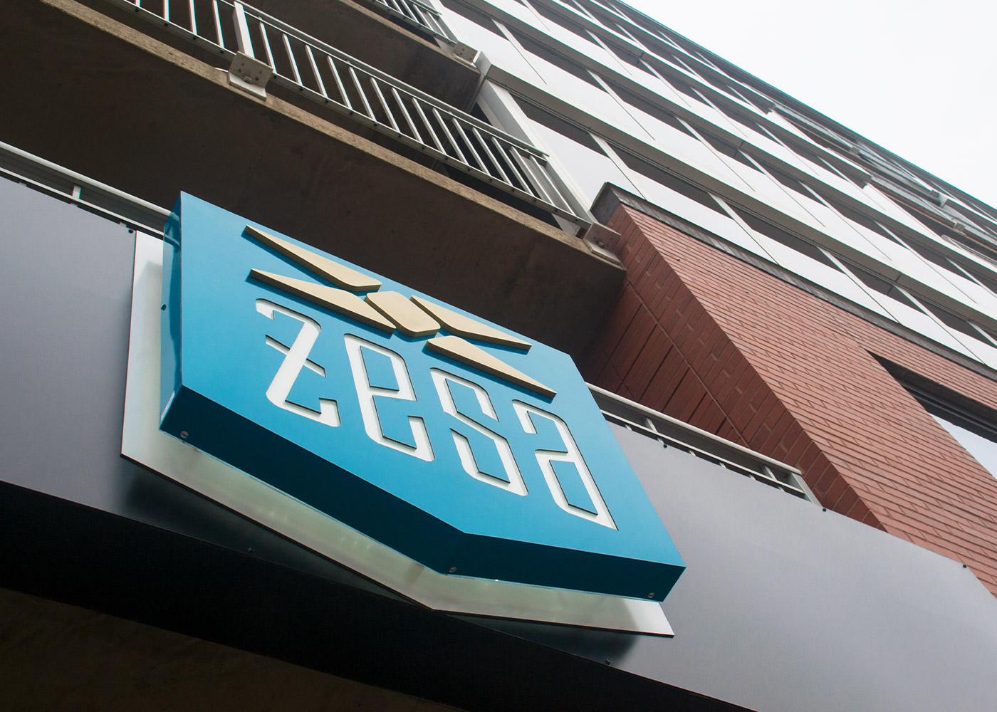 zesa dimensional backlit logo sign