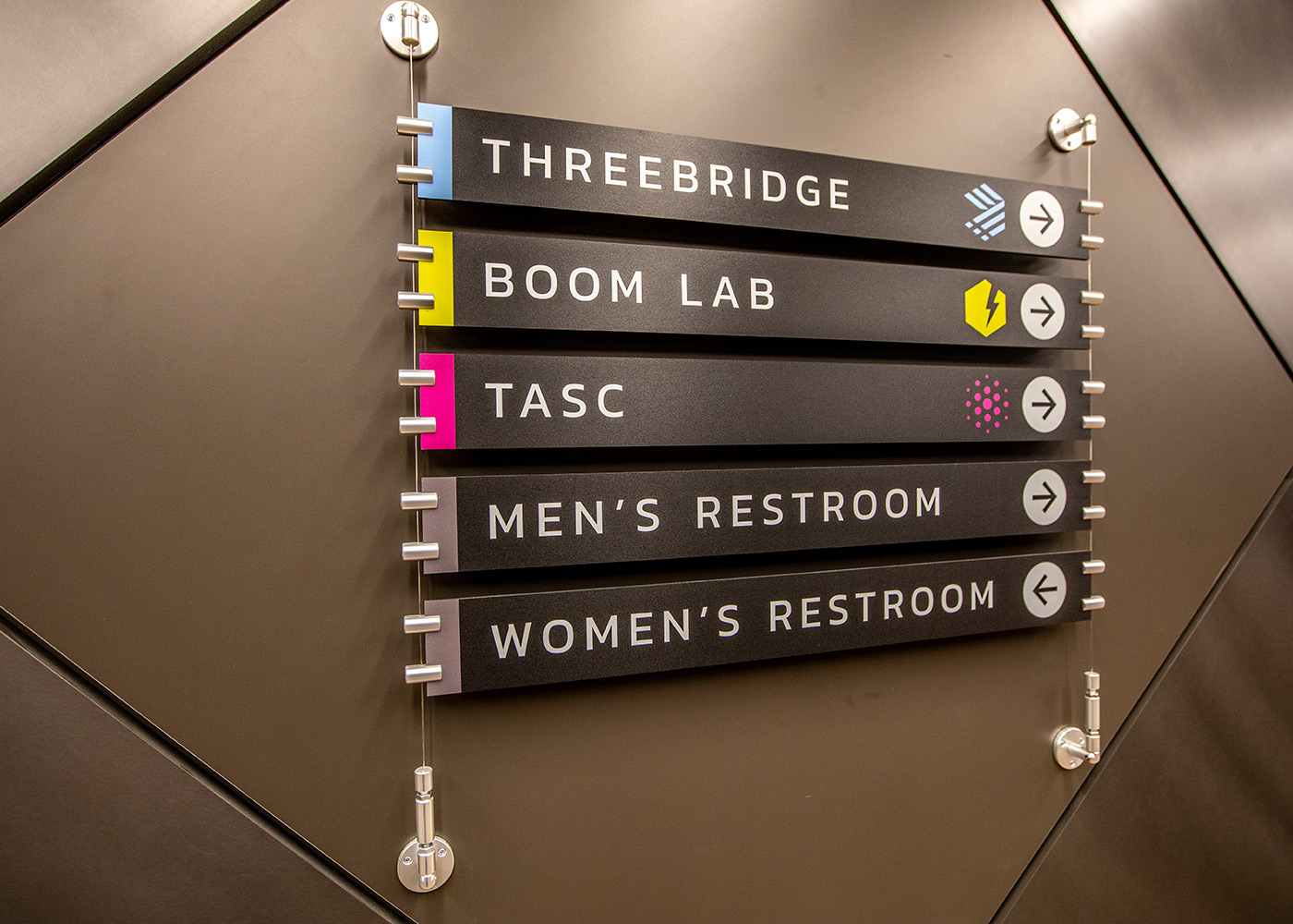 Tasc wayfinding signage in lobby