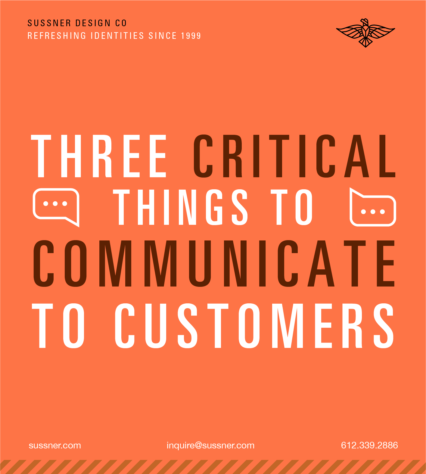 Three critical things to communicate to customers